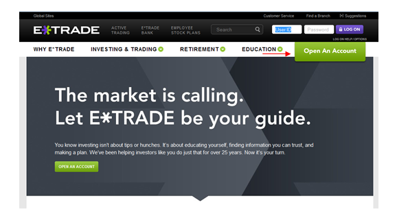 etrade log on